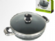 Non Stick Karahi Wok with Glass Lid (Suitable for Induction)